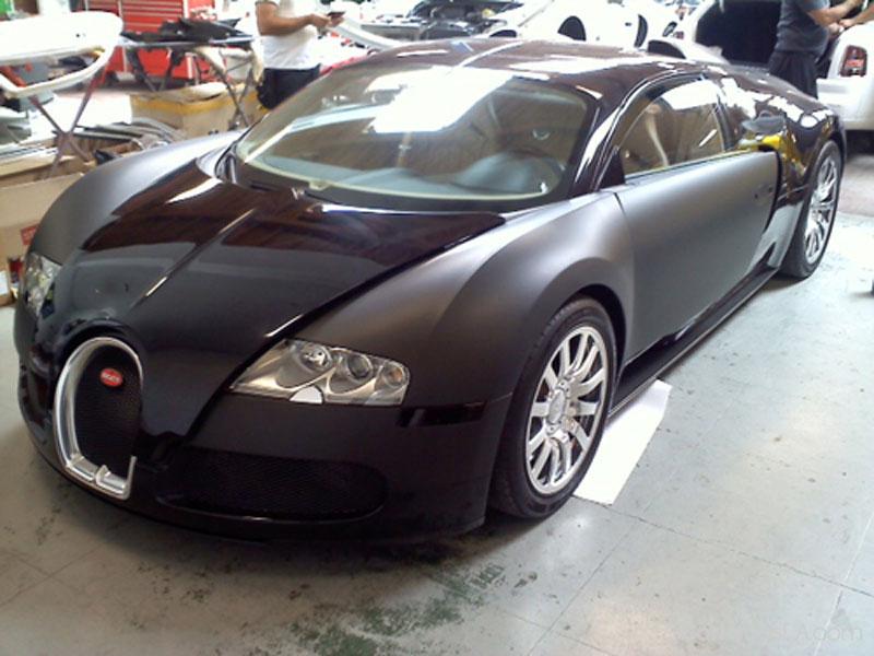 bugatti veyron black matte custom wraps « car wraps los angeles