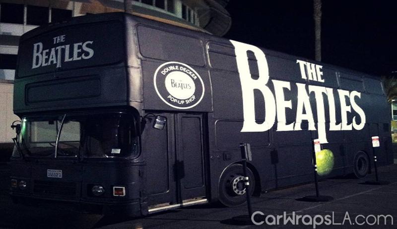 Beatles Double Decker Bus Wrap 171 Car Wraps Los Angeles