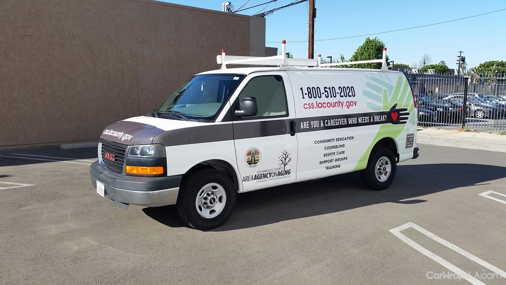 Giving Break For Caregivers Van Wraps